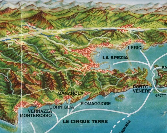 Cinque Terre Ferry Map