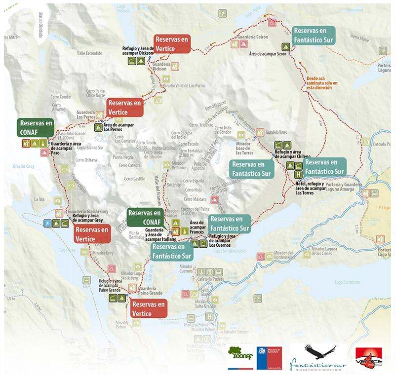 mapa reserva campings
